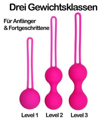Premium Liebeskugeln 3er Set - Attraktives Beckenbodentraining für Frauen - Optimale Stärkung der Vaginalmuskulatur - Perfekt zur Steigerung der Orgasmusfähigkeit - 3