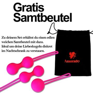 Premium Liebeskugeln 3er Set - Attraktives Beckenbodentraining für Frauen - Optimale Stärkung der Vaginalmuskulatur - Perfekt zur Steigerung der Orgasmusfähigkeit - 6